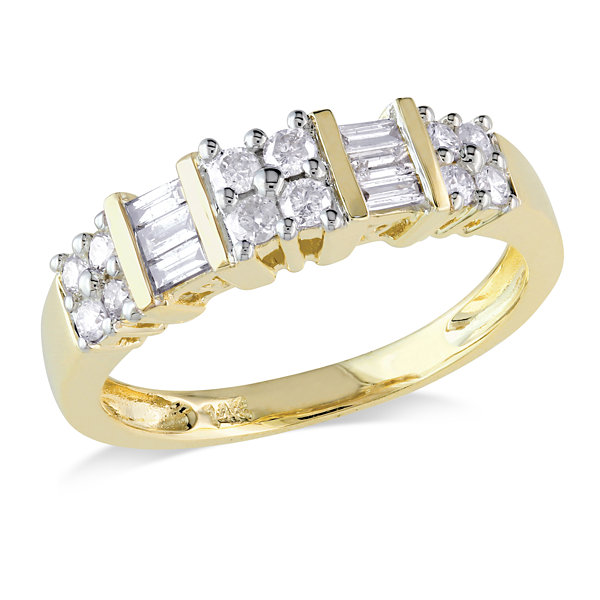 Jcpenney Gift Registry Wedding: Womens 1/2 CT TW White Diamond 14K Gold Wedding Band JCPenney