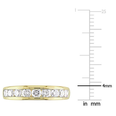 Womens 3/4 CT. T.W. Genuine White Diamond 14K Gold Wedding Band
