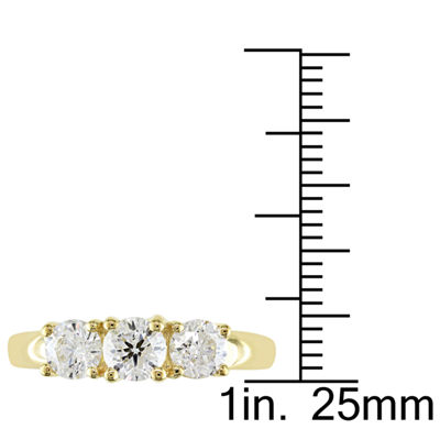 Love Lives Forever Womens 1 CT. T.W. Round White Diamond 14K Gold 3-Stone Ring
