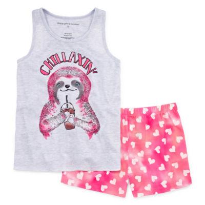 2pc Shorts Pajama Set Girls