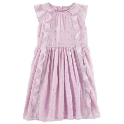 Oshkosh Short Sleeve A-Line Dress - Preschool Girls