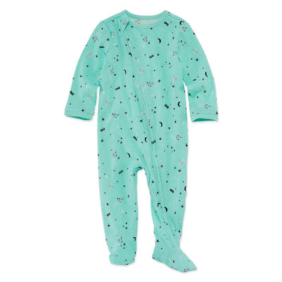Okie Dokie Printed Full Zip Sleep and Play - Baby Boy NB-9M