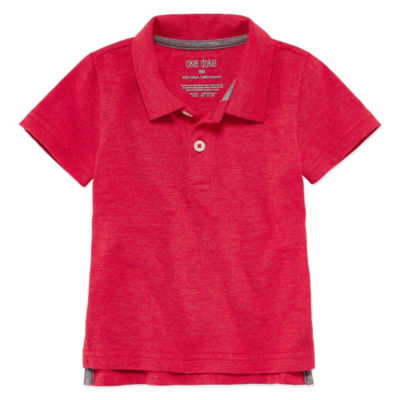 Okie Dokie Solid Short Sleeve Polo Shirt - Baby Boy NB-24M