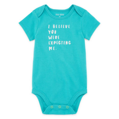 "Okie Dokie ""I Believe You Were Expecting Me"" Short Sleeve Slogan Bodysuit - Baby NB-24M"
