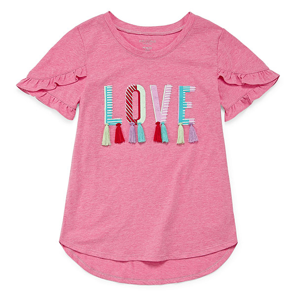 Arizona Short Sleeve 3D Graphic Top - Girl's 4-16 & Plus