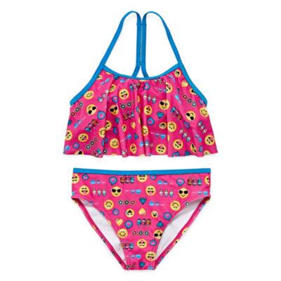 Emoji, Inc. Girls Bikini Set - Preschool