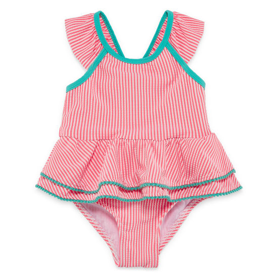 Stripe One Piece Swimsuit Toddler Girls