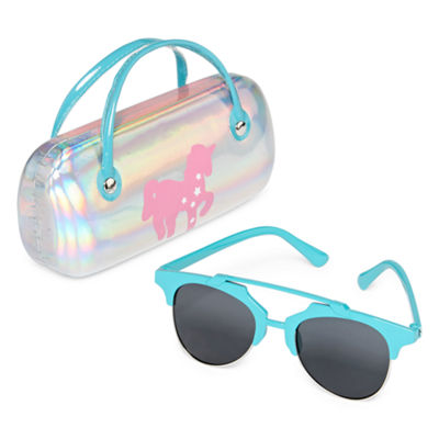 Fantasia Full Frame Round Sunglasses-Girls