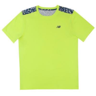 New Balance Short Sleeve Round Neck T-Shirt-Preschool Boys