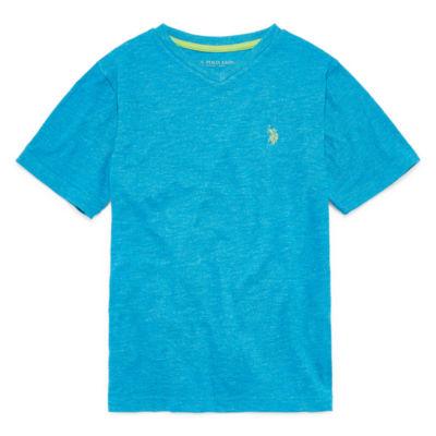 U.S. Polo Assn. Boys V Neck Short Sleeve Embroidered T-Shirt Preschool / Big Kid