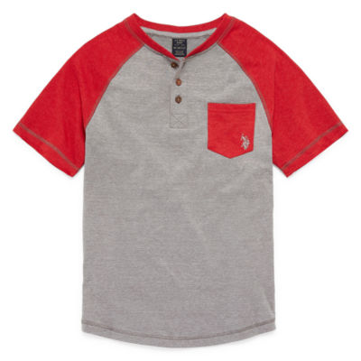 U.S. Polo Assn. Short Sleeve Henley Neck T-Shirt Boys