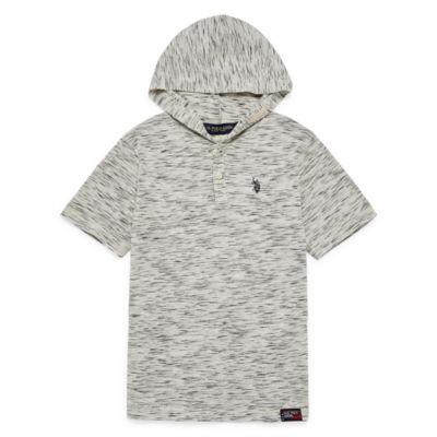 US Polo Assn. Short Sleeve Hooded Tee-Big Kid Boys
