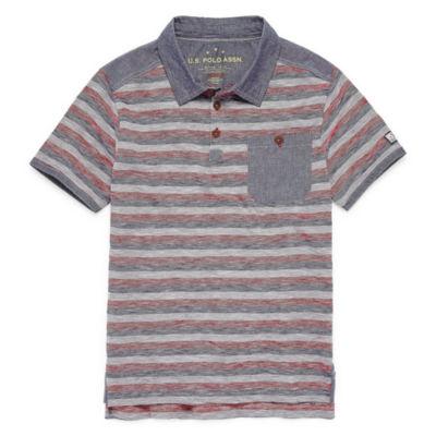 U.S. Polo Assn. Short Sleeve Polo - Big Kid Boys