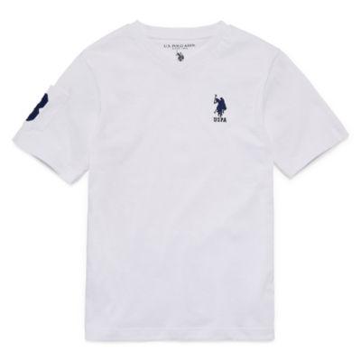 U.S. Polo Assn. Short Sleeve V Neck T-Shirt -Big Kid Boys