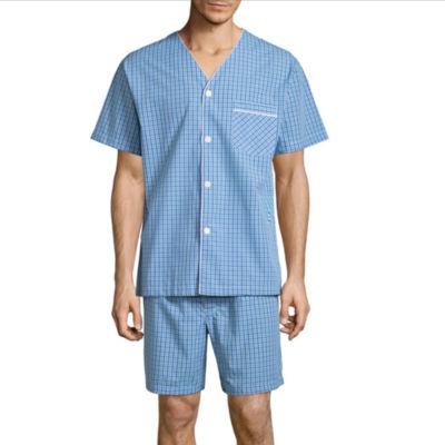 Stafford V-Neck Short Sleeve/ Short Leg Pajama Set - Men's