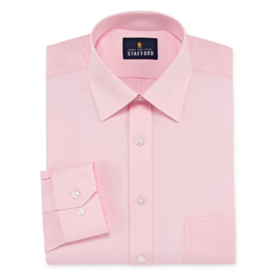 Stafford Travel Easy-Care Long Sleeve Broadcloth Dress Shirt