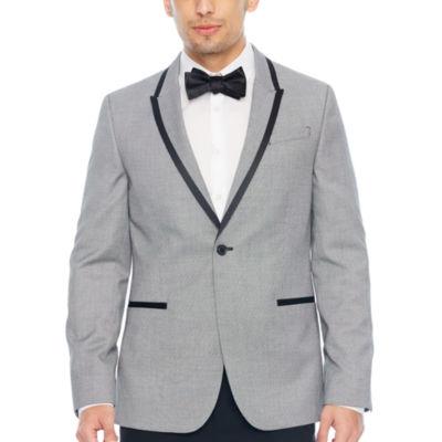 JF J.Ferrar Pattern Super Slim Fit Tuxedo Jacket - Slim