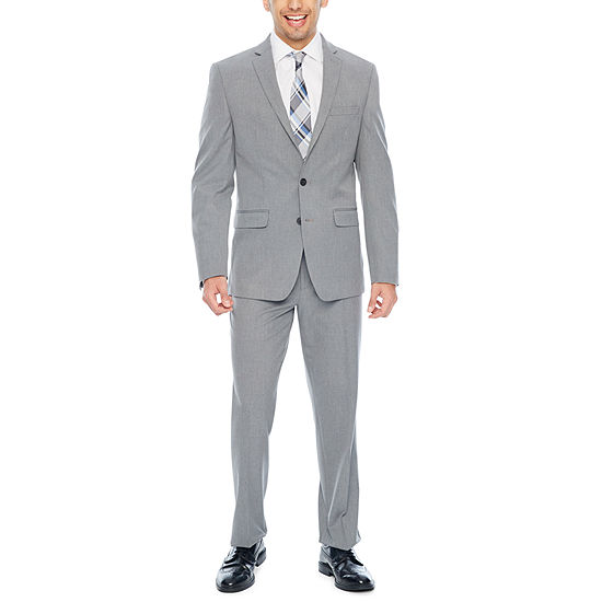 Van Heusen Slim Fit Light Gray Suit Separates