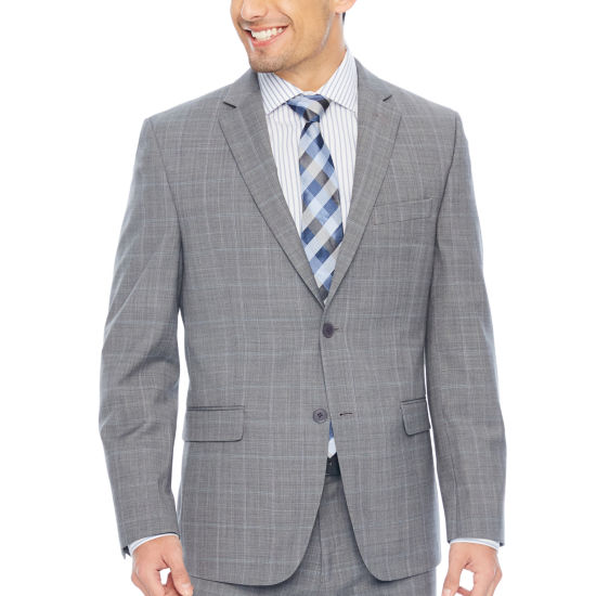 Collection by Michael Strahan  Checked Slim Fit Stretch Suit Jacket-Slim