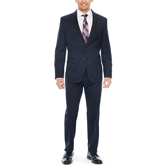 Collection by Michael Strahan Black Plaid Suit - Slim Fit