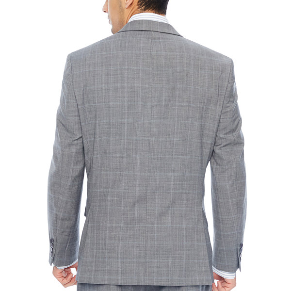 Collection by Michael Strahan  Mens Checked Classic Fit Suit Jacket