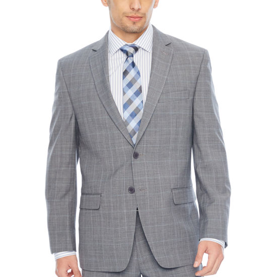 Collection by Michael Strahan  Checked Classic Fit Suit Jacket
