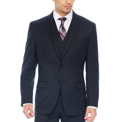 Collection by Michael Strahan Black Plaid Suit - Classic Fit