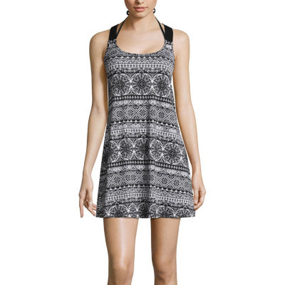 Porto Cruz Medallion Knit Swimsuit Cover-Up Dress