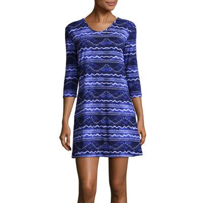 Porto Cruz Waves Knit Swimsuit Cover-Up Dress