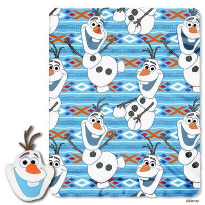 Northwest Disney's Frozen Olaf 2PC Pillow and Throw Set