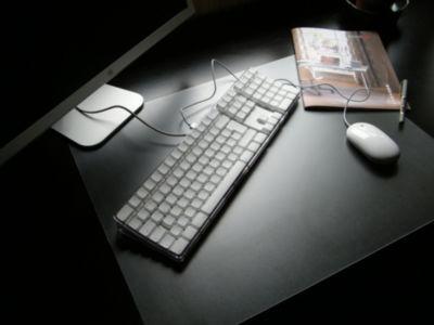 Desktex Pack of 4 PVC Rectangular Desk Mats