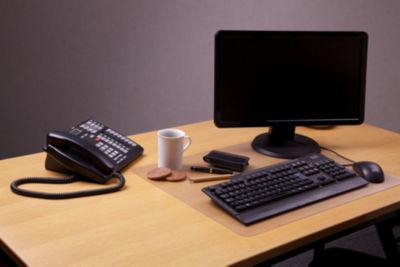 Desktex Anti-Slip and Super-Strong Polycarbonate Rectangular Desk Protector Mat