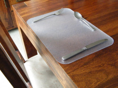Desktex Pack of 4 Anti-Slip Rectangular Desk Mats
