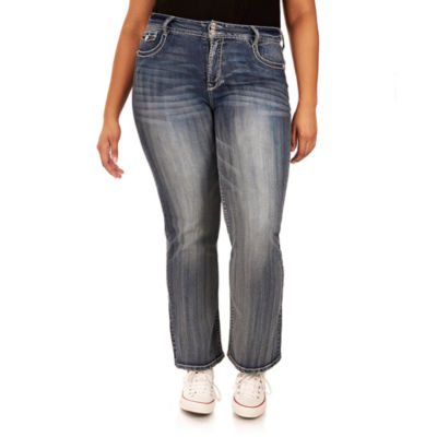 Wallflower Curvy Fit Bootcut Jeans-Juniors