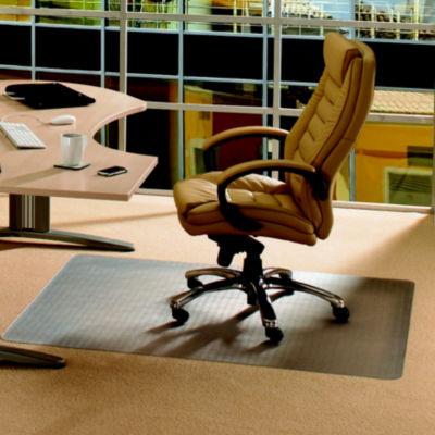 Cleartex Advantagemat PVC Chair Mat for Standard Pile Carpets (3/8IN or less) Rectangular