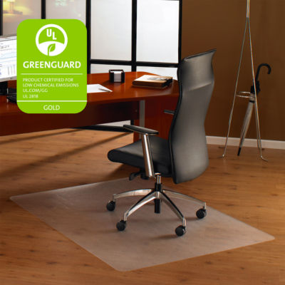 Cleartex Ultimat Chair Mat Square Clear Polycarbonate For Hard Floors