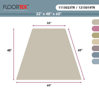 Cleartex Ultimat Corner Workstation Chair Mat Polycarbonate For Hard Floors