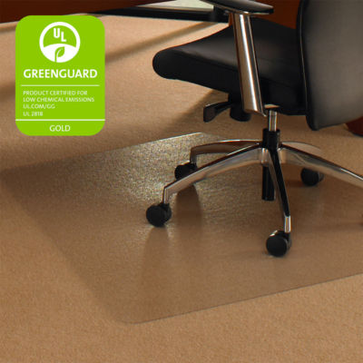 Cleartex Ultimat Corner Workstation Chair Mat Polycarbonate For Low & Medium Pile Carpets (up to 1/2IN)