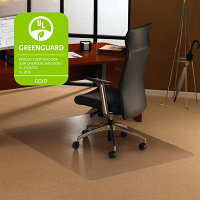 Cleartex Ultimat Rectangular Chair Mat Polycarbonate For Low & Medium Pile Carpets (up to 1/2IN)