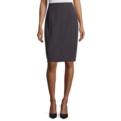 Worthington Womens High Waisted Stretch Pencil Skirt