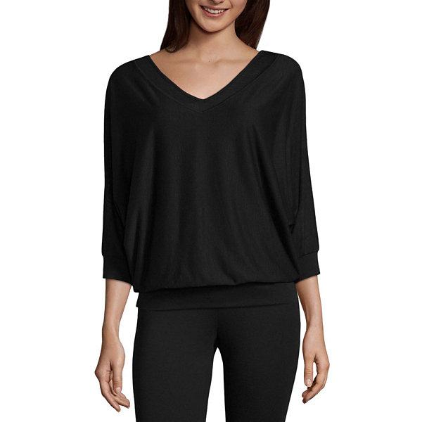 Liz claiborne long sleeve v neck layered t shirt womens for Liz claiborne v neck t shirts
