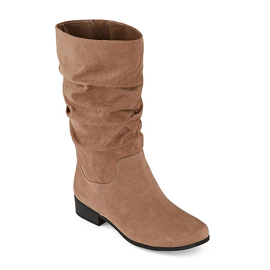 east 5th Womens Jarrett Slouch Block Heel Wide Width Wide Calf Boots