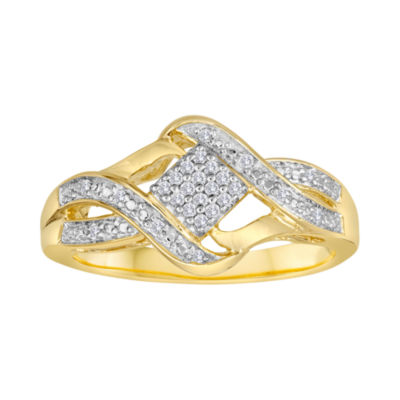 1/10 CT. T.W. Diamond 14K Gold Over Sterling Silver Ring