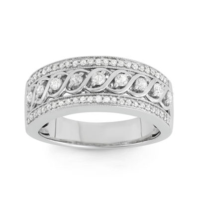 1/2 CT. T.W. Diamond 10K White Gold Anniversary Band