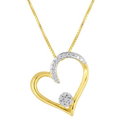 diamond blossom 1/10 CT. T.W. Diamond Heart Pendant Necklace