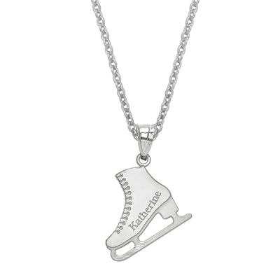 Personalized Ice Skating Name Pendant Necklace