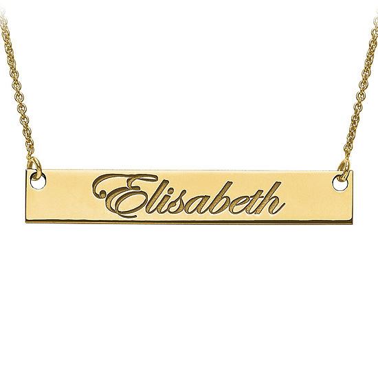Personalized 6x39mm Script Name Bar Necklace