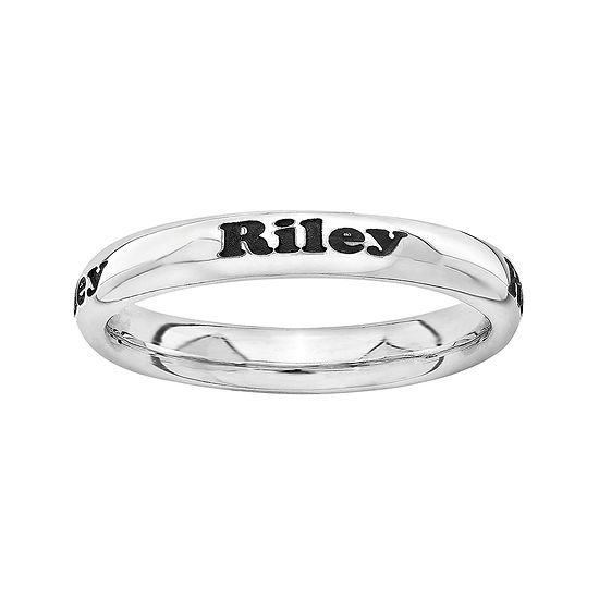 Sterling Silver Personalized Ring
