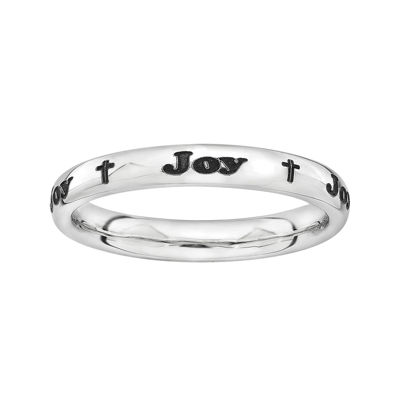 Sterling Silver Personalized Cross Ring