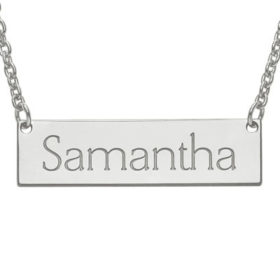 Personalized 8x32mm Name Bar Necklace